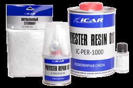 Набор для ремонта полиэфирный ICAR c стекломатом 25смх50см, уп. 0,25кг+5гр отвердитель (шт.)