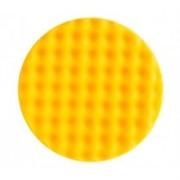 Рельефный поролоновый полир диск 150*25мм желтый