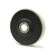 259440 RoxelPro Фетровый полировальный круг на оправке 125*20*22