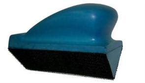 Шлифблок 70-120мм угловой, на липучке,  синий