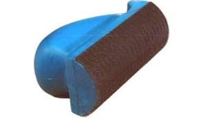 Шлифблок 70-120мм полукруглый, мягкий, на липучке,  синий