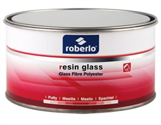 Шпатлевка Roberlo 2K, RESINPGLASS - стекловолокно 1,5 кг