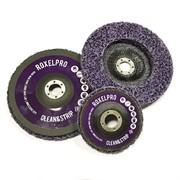 123344 RoxelPro Пурпурный зачистной круг ROXPRO Clean&Strip на оправке 125*22мм