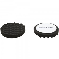 polirovalnyi-krug-iz-porolona-d150-mm-t30-mm-myagkii-chernyi-rebristyi-norma-30-black-waffle-isistem-iz-kor