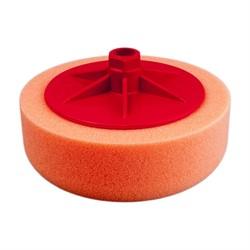 polirovalnyi-krug-s-rezboi-m14-iz-porolona-d150mm-t50mm-srednezhest-oranzhevyi-isistem-medium-orange