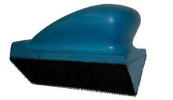 Шлифблок 70-120мм угловой, на липучке,  синий - фото 4816