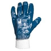 JN065 Защитные перчатки c полным нитриловым покрытием, подкладка 100% хлопок, цвет синий, размер XL