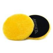 PolarshinePRO Диск полировальный из натуральной овчины желтый 150мм/6 , липучка